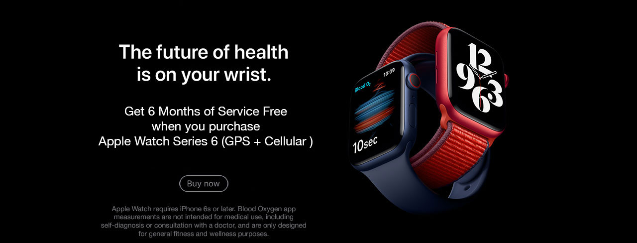 Apple Watch Series 6 - First 6 months of service free