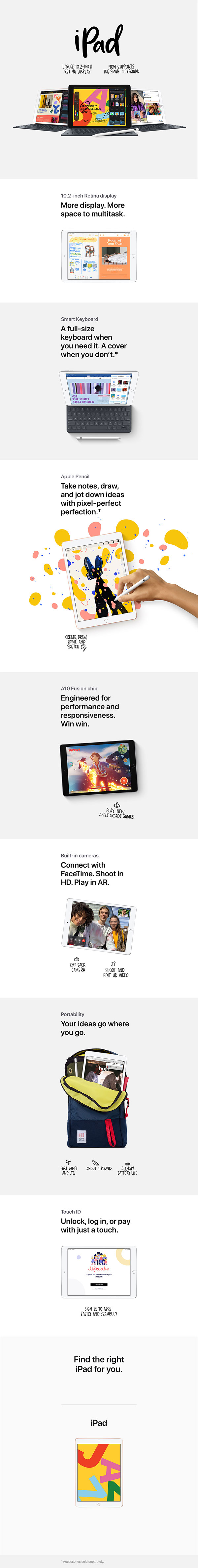iPad Product Overview Page Mobile