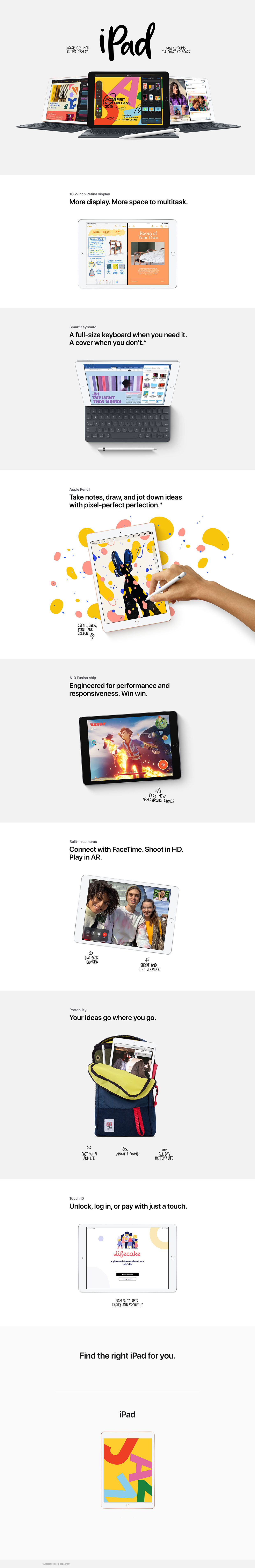 iPad Product Overview Page