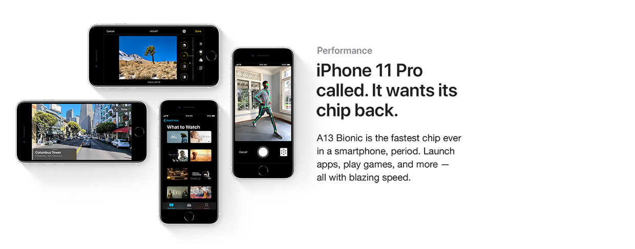 iPhone 11 Pro called. It wants it chip back